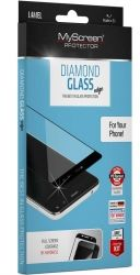 Стъклен протектор MyScreen Diamond Glass Edge Full Cover за Samsung G996 Galaxy S21 Plus, Черен